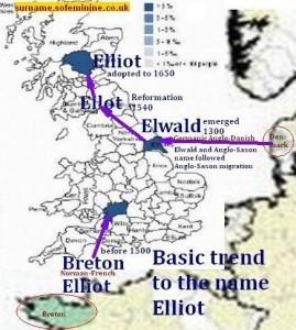 Elwald Breton surname distribution