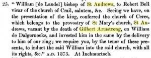 Gilbert Armstrong St Andrews