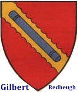 Gilbert Redheugh shied crest arms