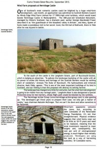 Hermitage Castle Wind Farm Proposal