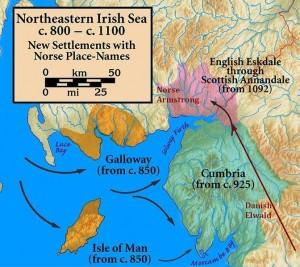 Norse settlement map
