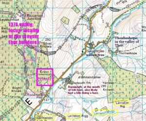 Riccarton contour info map