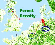 forest density map