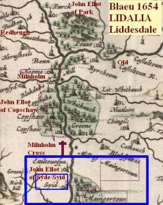 Blaeu 1654 LIDALIA Liddesdale