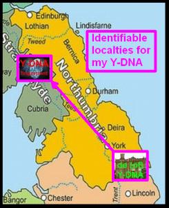 Identifiable Y-DNA localties