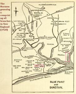 R. Elliot 1680 Scarboro map