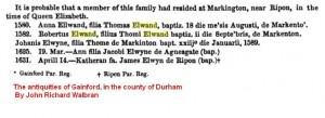 Robertus Elwand son of Thomas Markington