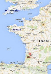 Aliot, France map
