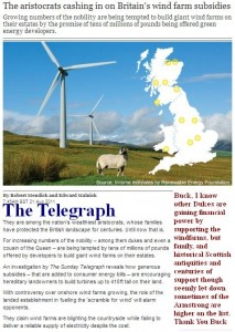 dukes chasing wind farm subsidies