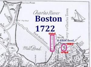 Boston 1722 D Daniel deed Map