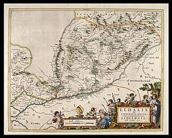 Liddesdale Bleau map 1654