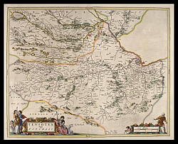 Teviotdale Bleau map 1654