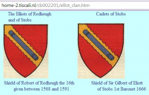 Redheugh and Stobs shields crests