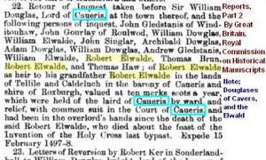 Robert Elwald  Douglas of Cavers