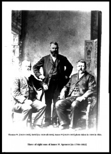 3 of 8 sons of James W. Spencer
