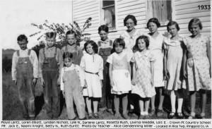 Crownpoint School  near Mt Ayr,, IA 1933