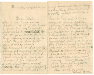 Ilah 1920 letter