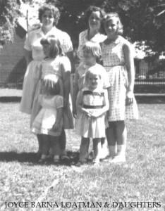 Joyce Barna Lotman & daughters