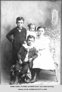 Mark Hazel Flossie & Rees of AW & Emma Elliott ca 1899