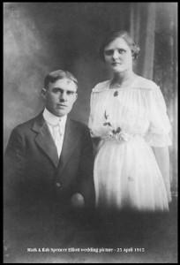 Mark & Ilah Spencer Elliott wedding 25 Apr 1915