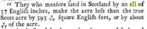 Scottish Ell land measurement of area
