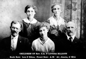 children of Rev SA & Louisa Elliott