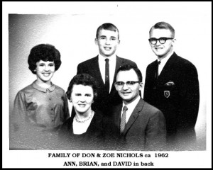 family of Don & Zoe Nichols ca 1962