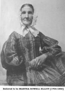 probably Matha Rowell Elliott