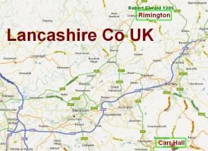 Barton, Rimington, Carr Hall, Lancashire Co, UK