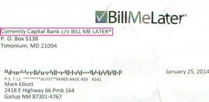 Comenity Capital Bank BillMeLater