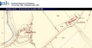 Liddel Castle Castleton map