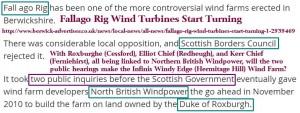 Fallago Rig Scottish Border Council Government Duke of Roxburgh