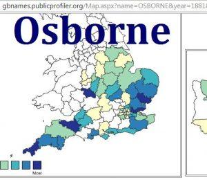 Osborne GBname distribution 1881