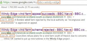 Windy Edge wind farm BBC News