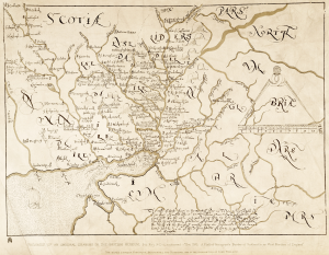 1590 Scottish Border map