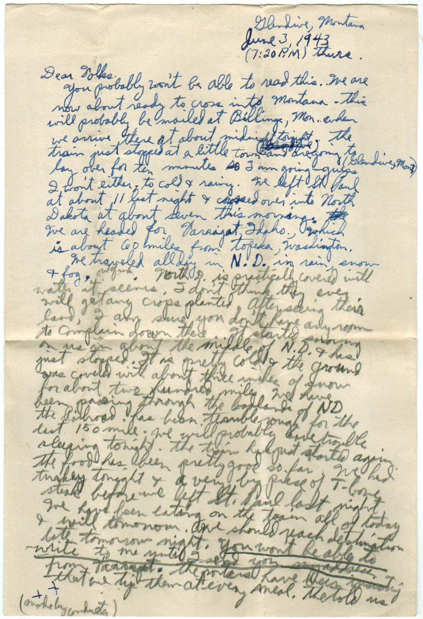 US Navy WWII Farragut, ID LSE letters – Elwald